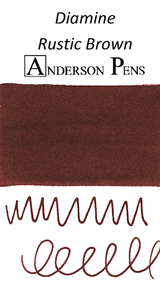 Diamine Rustic Brown Ink Color Swab
