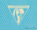 Clairefontaine 1951 Staplebound Notebook - 5.75 x 8.25, Lined - Turquoise logo