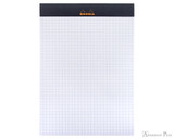 Rhodia No. 16 Staplebound Notepad - A5, Graph - Black open