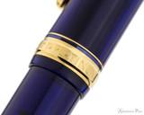 Platinum 3776 Century Fountain Pen - Chartres Blue - Cap Band 2