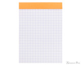 Rhodia No. 12 Staplebound Notepad - 3.375 x 4.75, Graph - Orange open