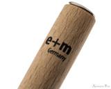 e + m Federhalter Saggitarius Dip Pen - Beech Natural - Imprint