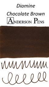Diamine Chocolate Brown Ink Color Swab