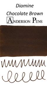Diamine Chocolate Brown Ink Color Swab