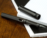 Lamy Safari Fountain Pen - Charcoal - Open Beauty