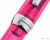 Sailor Professional Gear Slim Fountain Pen - Transparent Pink with Rhodium Trim - Cap Band