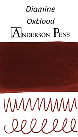 Diamine Oxblood Ink Color Swab