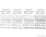 Anderson Pens #6 Steel Nib - Two-Tone, Broad - Nib Card