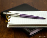 Parker Jotter Ballpoint - Victoria Violet - Open on Notebook