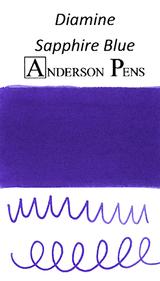 Diamine Sapphire Blue Ink Color Swab