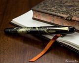 Namiki Chinkin Fountain Pen - Cat - Closed on Notebook