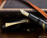 Namiki Chinkin Fountain Pen - Cat - Open on Notebook