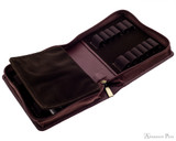 Girologio 12 Pen Case - Brown Leather - Open