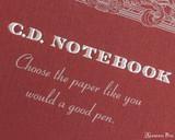 APICA Premium CD Notebook - A5, Graph - Red logo