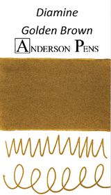 Diamine Golden Brown Ink Color Swab