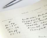 Leuchtturm1917 Notebook - A5, Dot Grid - Emerald contents page