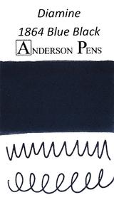 Diamine 1864 Blue Black Ink Color Swab