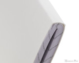 Rhodia Staplebound Notebook - A5, Graph - Ice White binding detail