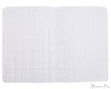 Rhodia Staplebound Notebook - A5, Graph - Ice White open