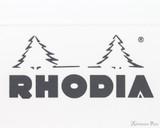 Rhodia Staplebound Notebook - A5, Graph - Ice White logo