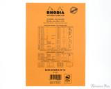Rhodia No. 16 Staplebound Notepad - A5, Graph - Orange back cover