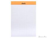 Rhodia No. 16 Staplebound Notepad - A5, Graph - Orange open