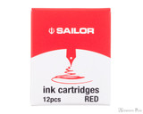 Sailor Jentle Red Ink Cartridges (12 Pack)