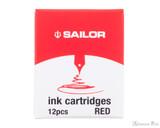 Sailor Jentle Red Ink Cartridges (12 Pack)