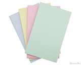 Exacompta Index Cards - 5 x 8, Graph - Assorted Colors 4 color set