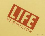 Life Vermilion Notebook - A6 (4 x 6), Graph Paper - Logo