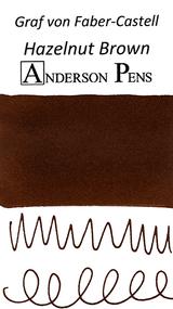 Graf von Faber-Castell Hazelnut Brown Ink Cartridges color swab