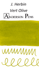 J. Herbin Vert Olive Ink Color Swab