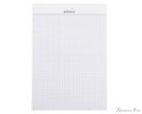Rhodia No. 16 Staplebound Notepad - A5, Graph - Ice White open