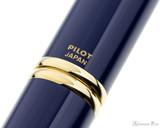 Pilot Vanishing Point Fountain Pen - Blue with Gold Trim - Imprint