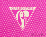 Clairefontaine 1951 Staplebound Notebook - 5.75 x 8.25, Lined - Raspberry logo