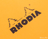 Rhodia No. 18 Wirebound Notepad - A4, Lined - Orange - Logo