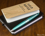 Pilot Metropolitan Ballpoint - Retro Pop Turquoise - On Notebook