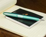 Pilot Metropolitan Ballpoint - Retro Pop Turquoise - On Notepad