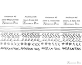 Anderson Pens #6 Steel Nib - Two-Tone, 1.1mm Stub - Nib Card 2