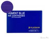 Platinum Pigment Blue Ink Cartridges (10 Pack)