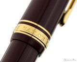 Sailor 1911 Large Fountain Pen - Maroon with Gold Trim, Lefty Nib - Cap Band