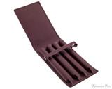 Girologio 4 Pen Case - Brown Leather - Open