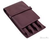 Girologio 4 Pen Case - Brown Leather