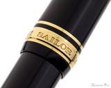 Sailor 1911 Large Fountain Pen - Black with Gold Trim, Lefty Nib - Cap Band