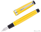 Sailor Pro Gear Color Fountain Pen - Yellow with Rhodium Trim - Open
