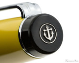 Sailor Pro Gear Color Fountain Pen - Yellow with Rhodium Trim - Cap Jewel