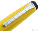 Sailor Pro Gear Color Fountain Pen - Yellow with Rhodium Trim - Clip