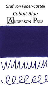 Graf von Faber-Castell Cobalt Blue Ink Cartridges color swab