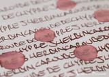 J. Herbin 1670 Anniversary Caroube de Chypre Ink ThINK Thursday water test closeup