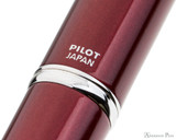 Pilot Vanishing Point Decimo Fountain Pen - Burgundy - Imprint